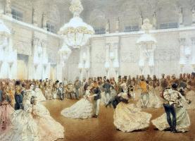 Михай Зичи. Бал в Концертном зале Зимнего дворца