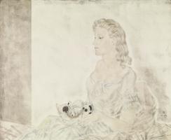 Цугухару Фудзита ( Леонар Фужита ). Женщина с котенком