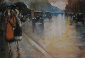 Лессер Ури. Берлинская улица в дождь