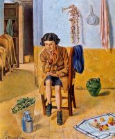 Анхель Планеллс. Девушка на стуле