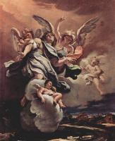 Себастьяно Риччи. Эскиз для цикла фресок в Сан Бернардино алле Оссе в Милане. Апофеоз святого