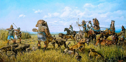 Vasily Daniilovich Ishoev. Great hunting for lions