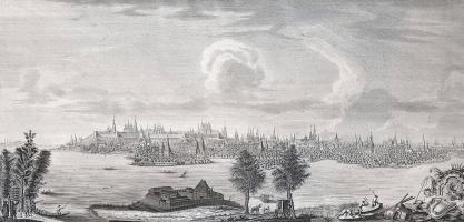 Вид города Казани со стороны реки Казанки