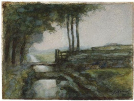 Piet Mondrian. Landscape with ditch