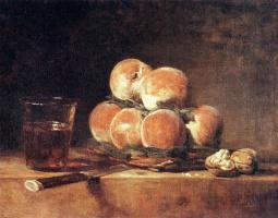 Жан Батист Симеон Шарден. Корзина с персиками