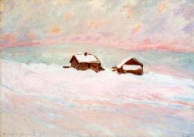 Клод Моне. Дома в снегу. Норвегия