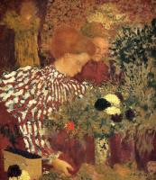 Жан Эдуар Вюйар. Женщина в полосатом платье
