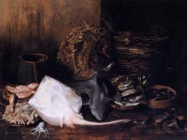 Уильям Меррит Чейз. Рыбный рынок в Венеции