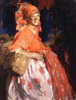 Абрам Ефимович Архипов. Девушка. 1920-е