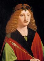 Джованни Антонио Больтраффио. Портрет молодого человека, держащего стрелу