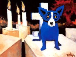 George Rodrigue. Blue собака004