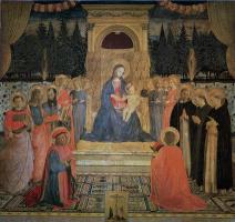 Фра Беато Анджелико. Мадонна на троне. Алтарь монастыря Сан Марко, центральная часть