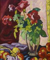 Луи Вальта. Красные розы и яблоки