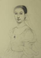 Ольга Акаси. Портрет молодой женщины, окутанной в дымку
