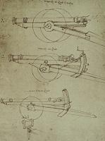 Леонардо да Винчи. Чертеж пушки