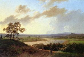 Маринус Куккук. Рейн пейзаж
