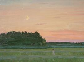 Eugene Alexandrovich Kazantsev. Late evening. In field.