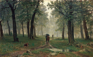 Ivan Ivanovich Shishkin. Rain in an oak forest