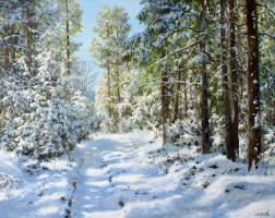 Сергей Владимирович Дорофеев. Sun in the winter forest
