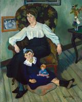 Сюзанна Валадон. Портрет Марии Кока и её дочь