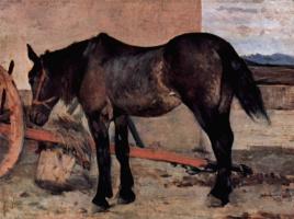 Джованни Фаттори. Лошадь перед телегой