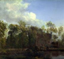 Ян ван дер Хейден. Ферма среди деревьев