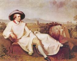 Иоганн Генрих Вильгельм Тишбейн. Портрет Гёте в окрестностях Рима