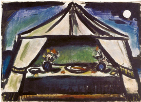 Georges Rouault. Set design for the ballet The Prodigal Son, scene II