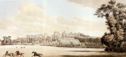 Пол Сандби. Вид Виндзорский замок и часть города от Спитал Хилл