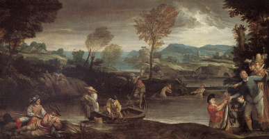 Annibale Carracci. Fishing