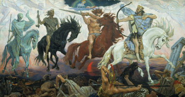 Warriors Of The Apocalypse. The sketch for the painting of the Vladimir Cathedral in Kiev