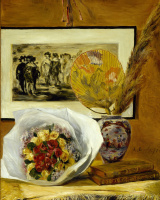 Pierre-Auguste Renoir. Still life with bouquet