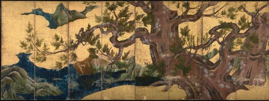 Кано Эйтоку. Японский кипарис