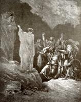 Поль Гюстав Доре. Иллюстрация к Библии: Саул у волшебницы в Аэндоре