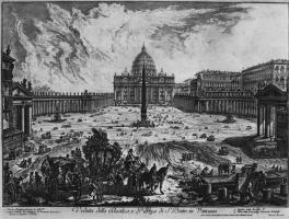 Джованни Баттиста Пиранези. Вид Площади и Собора святого Петра в Ватикане