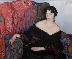 Елена Андреевна Киселева. Женский портрет. 1930