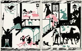 """Артур Рэкхэм. Иллюстрация к сказке """"Спящая красавица"""""""