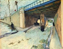 Vincent van Gogh. Railway bridge over the road to Tarascon