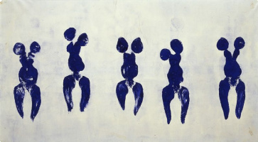 Yves Klein. Anthropometry of the blue period