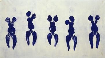 Yves Klein. Anthropometry of the blue period