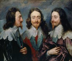 Anthony van Dyck. Triple portrait of Charles I, king of England