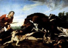 Франс Снейдерс. Охота на кабана