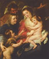 Питер Пауль Рубенс. Святое семейство с Елизаветой и Иоанном