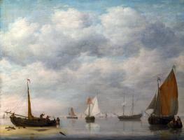 Ян ван Ос. Голландские суда в спокойной воде