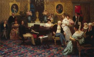 Генрих Ипполитович Семирадский. Шопен, играющий на фортепиано в салоне князя Радзивилла