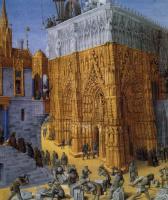 """Жан Фуке. Строительство храма в Иерусалиме. Миниатюра к рукописи И.Флавия """"Иудейские древности"""""""