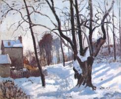 Camille Pissarro. Snow in Lovesee