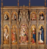 Карло Кривелли. Центральный алтарь Сан Доменико в Асколи (Алтарь Демидова), полиптих