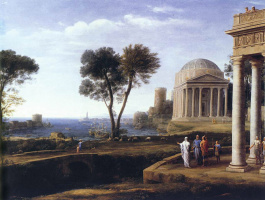Клод Лоррен. Пейзаж с Энеем на Делосе