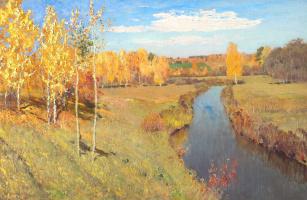 Isaac Levitan. Golden autumn